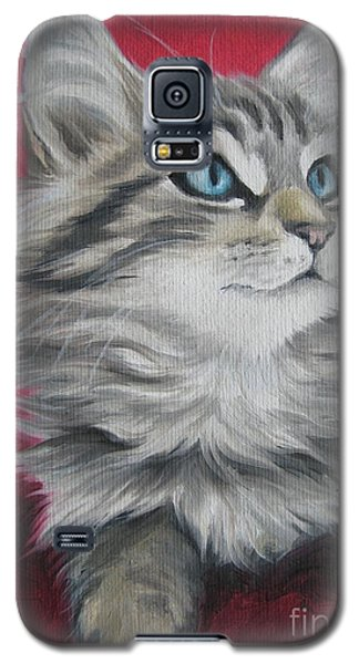 Galaxy S5 Case featuring the painting Estrella by Jindra Noewi