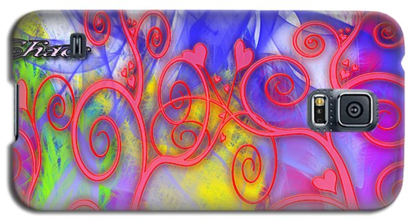 Galaxy S5 Case featuring the digital art Even In Chaos Find Love by Clayton Bruster