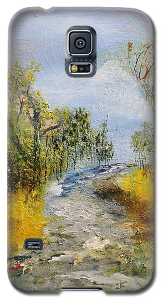 Galaxy S5 Case featuring the painting Evening Romance by Evelina Popilian