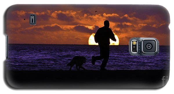 Galaxy S5 Case featuring the photograph Evening Run On The Beach by Clayton Bruster