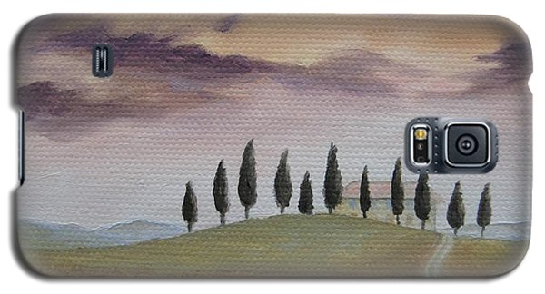 Galaxy S5 Case featuring the painting Evening Tuscany by Jindra Noewi