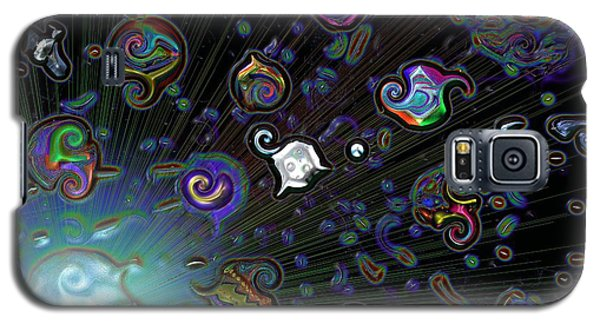 Galaxy S5 Case featuring the digital art Exploding Star by Alec Drake