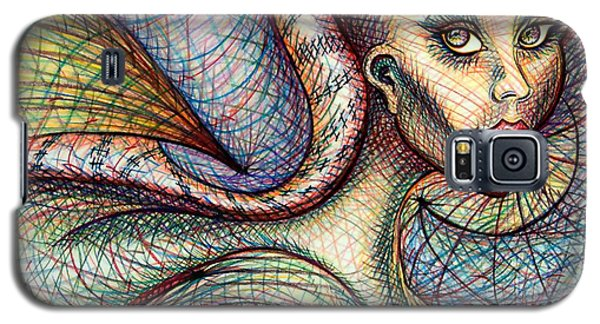 Galaxy S5 Case featuring the drawing Exposed by Danielle R T Haney