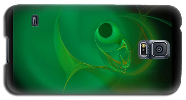 Galaxy S5 Case featuring the digital art Eye Of The Fish by Victoria Harrington