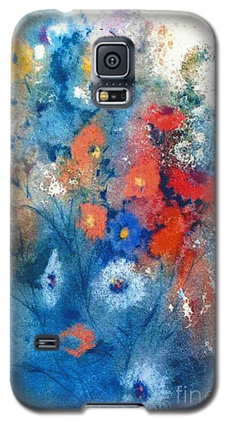 Galaxy S5 Case featuring the painting Faerie Flowers by Joan Hartenstein