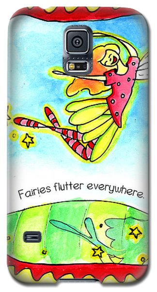 Fairies Flutter Everywhere Galaxy S5 Case