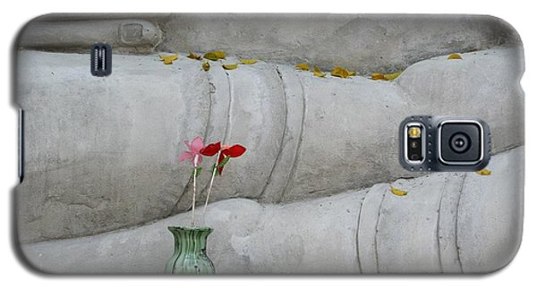 Galaxy S5 Case featuring the photograph Fall Buddha #1 by Nola Lee Kelsey