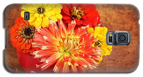 Galaxy S5 Case featuring the photograph Fall Flower Arrangement by Verena Matthew
