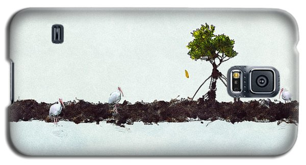 Galaxy S5 Case featuring the photograph Falling Mangrove Leaf by Dan Friend