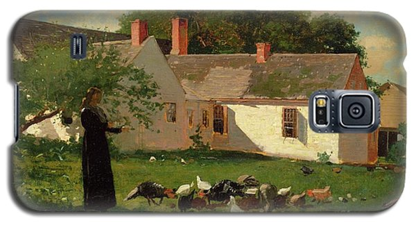 Farmyard Scene Galaxy S5 Case by Winslow Homer