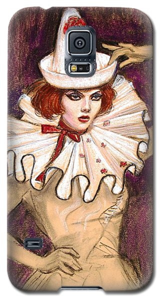 Galaxy S5 Case featuring the drawing Fashion Clown by Sue Halstenberg