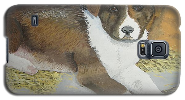 Galaxy S5 Case featuring the painting Fat Puppy by Norm Starks