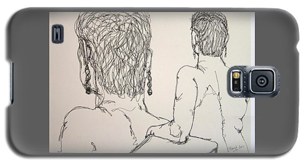 Female Nude Beside Herself Galaxy S5 Case by Rand Swift