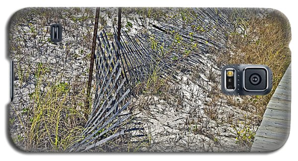 Galaxy S5 Case featuring the photograph Fence And Boardwalk by Susan Leggett