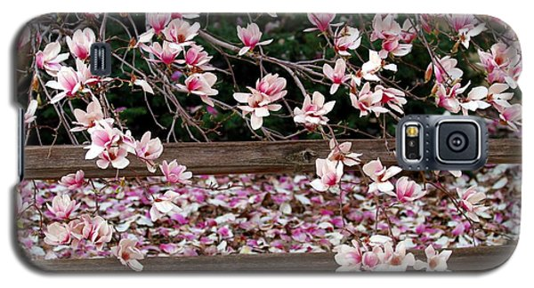 Galaxy S5 Case featuring the photograph Fence Of Flowers by Elizabeth Winter