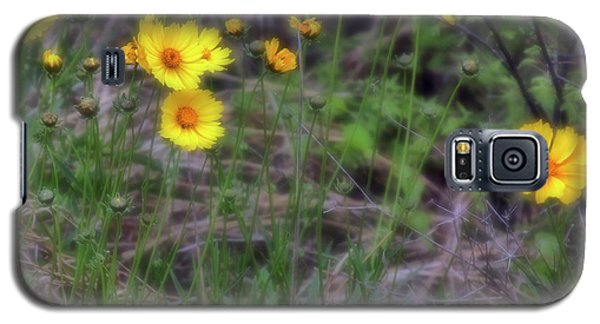 Galaxy S5 Case featuring the photograph Field Flowers by Joan Bertucci