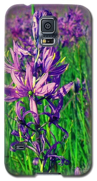 Galaxy S5 Case featuring the photograph Field Of Camas In Oregon by Mindy Bench