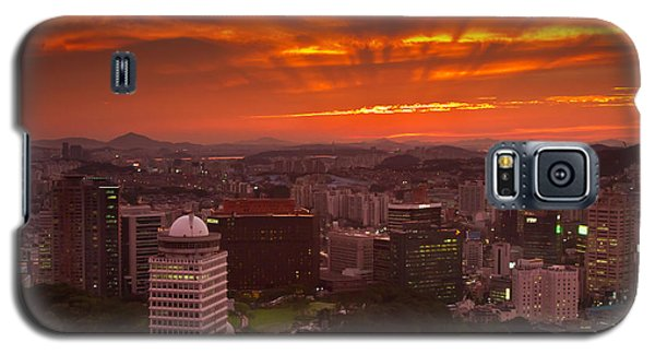 Fiery Seoul Sunset Galaxy S5 Case