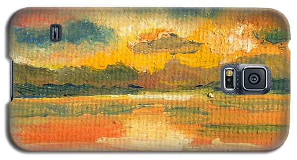 Fiery Sunset Galaxy S5 Case by Julie Brugh Riffey