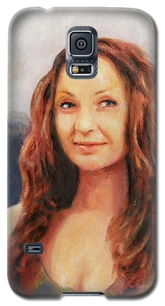 Fine Art Original Painting Jen Mona Lisa 2012 Galaxy S5 Case