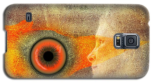 Galaxy S5 Case featuring the digital art Fire Look by Rosa Cobos