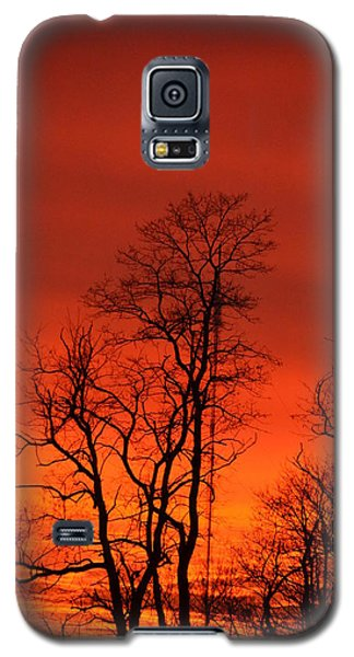 Fire Sky Galaxy S5 Case by Bonnie Myszka