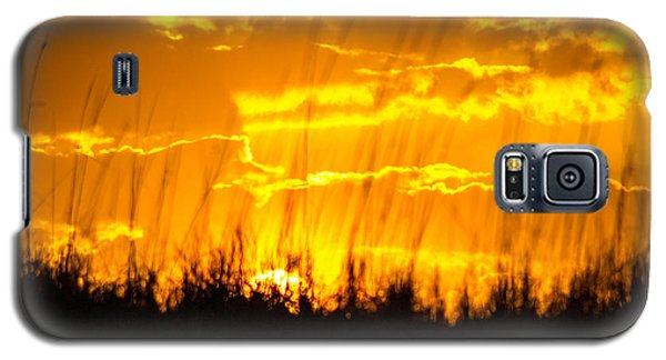 Galaxy S5 Case featuring the photograph Firey Sunset by Shannon Harrington