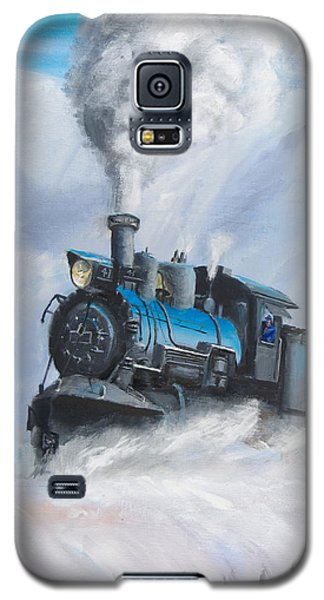 Train Galaxy S5 Case - First Train Through by Christopher Jenkins