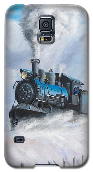 First Train Through Galaxy S5 Case by Christopher Jenkins