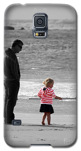 Galaxy S5 Case featuring the photograph Fish With Me Daddy by Terri Waters