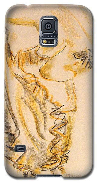 Galaxy S5 Case featuring the painting Flamenco Dancer 2 by Koro Arandia