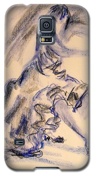 Galaxy S5 Case featuring the painting Flamenco Dancer 3 by Koro Arandia