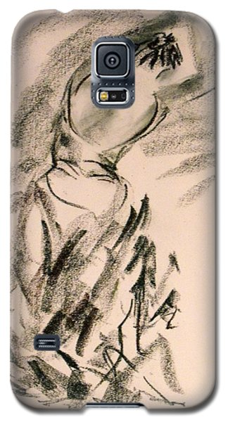Galaxy S5 Case featuring the painting Flamenco Dancer 4 by Koro Arandia
