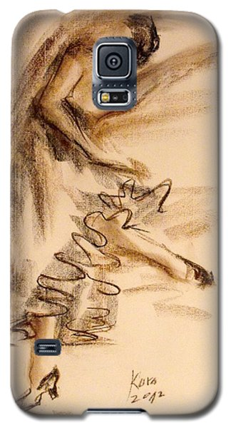 Galaxy S5 Case featuring the painting Flamenco Dancer 5 by Koro Arandia