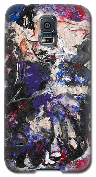 Galaxy S5 Case featuring the painting Flamenco Dancer 7 by Koro Arandia