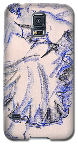 Galaxy S5 Case featuring the painting Flamenco Dancer 8 by Koro Arandia