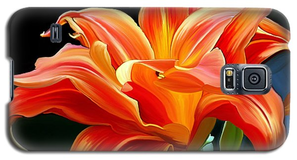 Flaming Flower Galaxy S5 Case by Patricia Griffin Brett