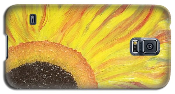 Flaming Sunflower Galaxy S5 Case