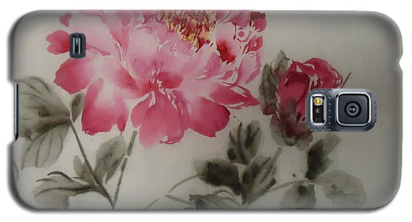 Galaxy S5 Case featuring the painting Floral8152012-3 by Dongling Sun