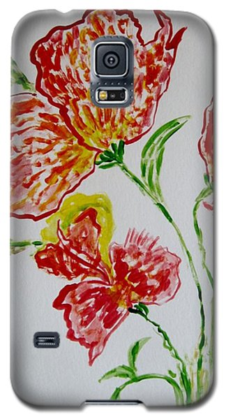 Galaxy S5 Case featuring the painting Florals by Sonali Gangane