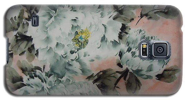 Galaxy S5 Case featuring the painting Flower 8152012--7 by Dongling Sun