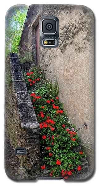 Galaxy S5 Case featuring the photograph Flower Stairway by Dave Mills