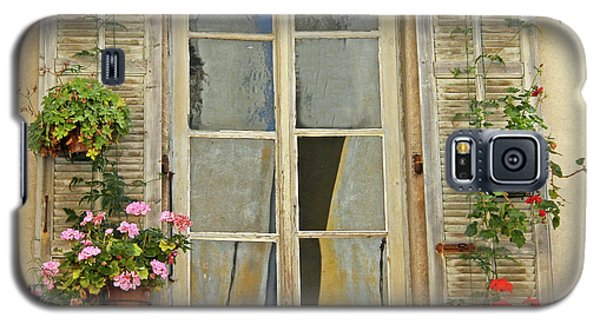 Galaxy S5 Case featuring the photograph Flower Window Provence France by Dave Mills