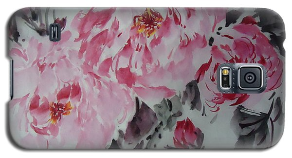 Galaxy S5 Case featuring the painting Flower705012-4 by Dongling Sun