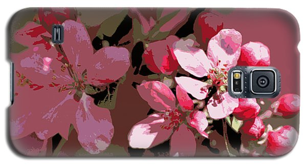 Flowering Crabapple Posterized Galaxy S5 Case