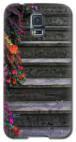 Flowers And Steps Galaxy S5 Case