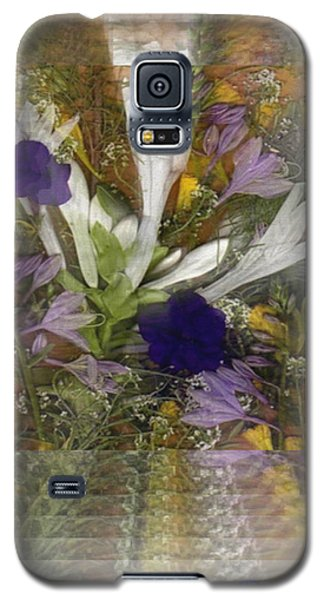 Galaxy S5 Case featuring the mixed media Flowers For You To Infinity by Ray Tapajna