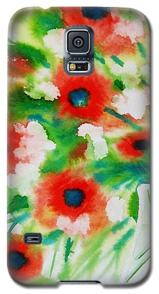 Flowers In A Glass Galaxy S5 Case