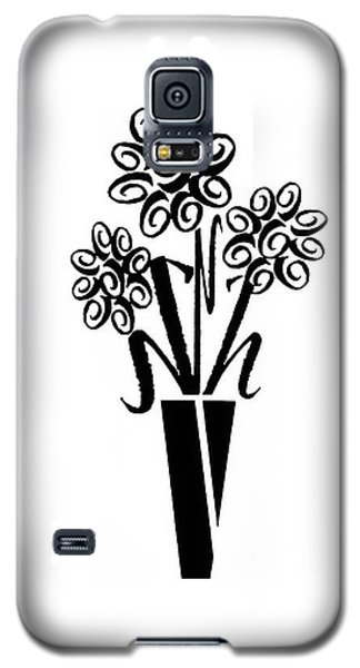 Flowers In Type Galaxy S5 Case by Connie Fox