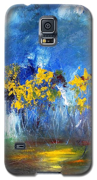 Flowers Of Maze In Blue Galaxy S5 Case
